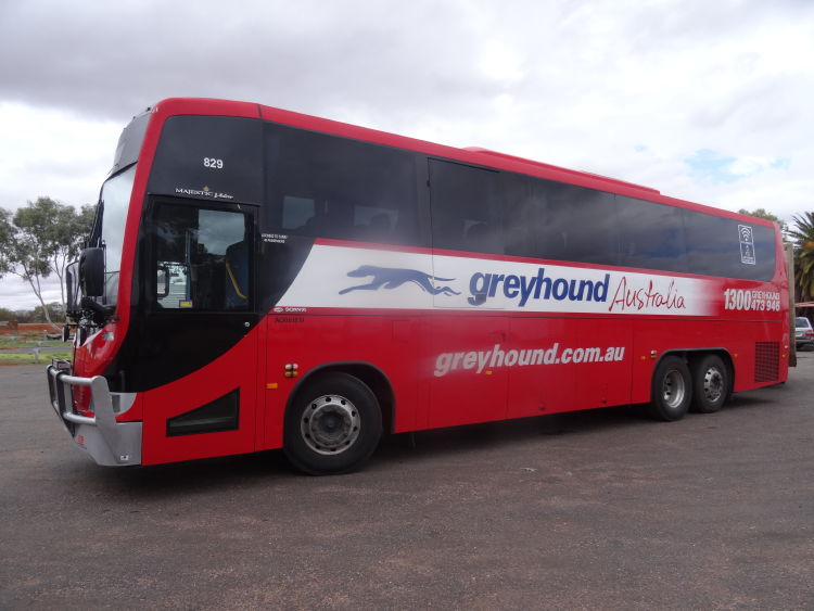One of the famous Greyhound Bus